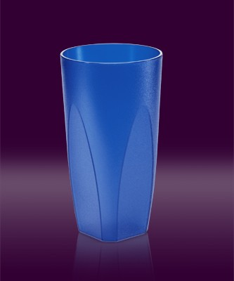 Cocktailbecher 0,25 l blau transparent