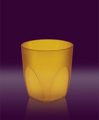 Whisky Becher gelb transparent