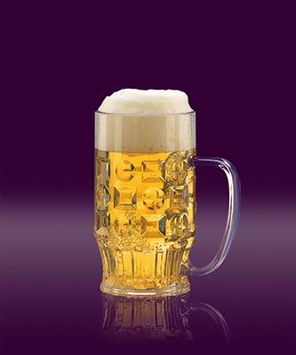 Bierkrug 0,3 L glasklar SAN