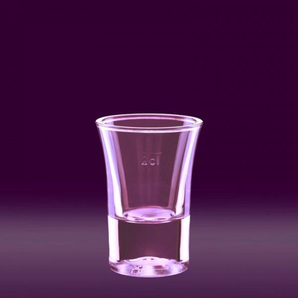 Schnapsglas 2cl glasklar SAN