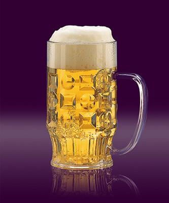 Bierkrug 0,5 L glasklar SAN