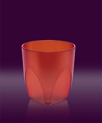Whisky Becher rot transparent