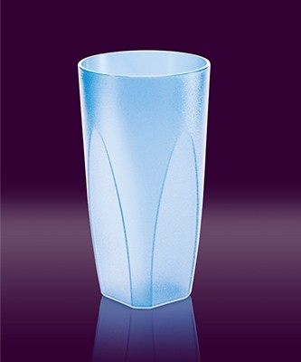 Cocktailbecher 0,25 l blau transparent hell