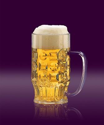 Bierkrug 0,4 L glasklar SAN