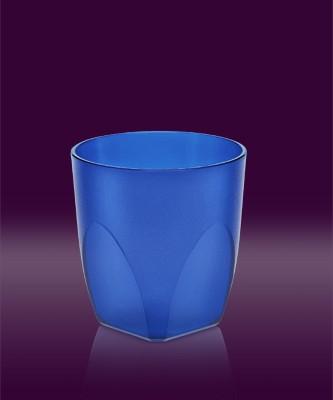 Whisky Becher blau transparent